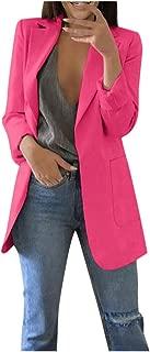 iHHAPY Women's Blazer Suit Jacket Elegant Business Jacket Office Jacket Long Sleeve Blazer Oversized Coat with Pocket