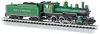 Bachmann Industries #1012 Baldwin 4-6-0 Steam Locomotive and Tender DCC Equipped Southern Train Car, Green with Gold Stripes, N Scale