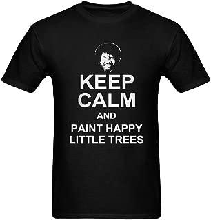 Keep Calm and Paint Happy Little Trees Men's DIY T-shirt Black