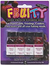 Lorann Oils 4 Fruity Flavors Dram Combo Pack - LOR 4520