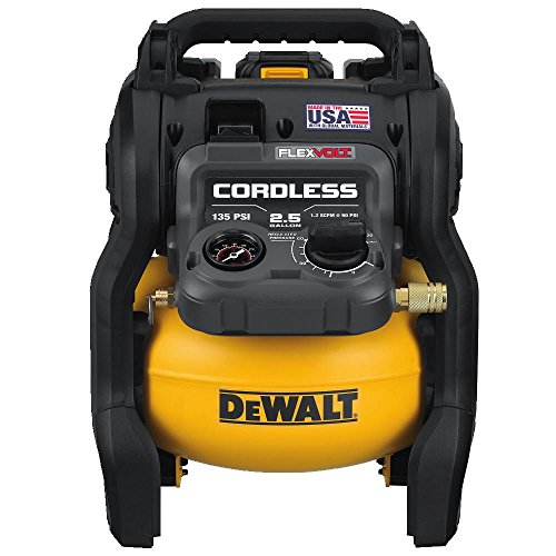 DEWALT FLEXVOLT 60V MAX Air Compressor Kit, Cordless, 2.5 Gallon (DCC2560T1)