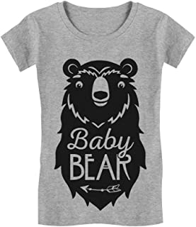 Baby Bear Cute Gift Little Girl Boy Sibling Family Infant Girls' Fitted T-Shirt
