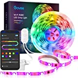 Govee LED Strip Lights, 16.4ft RGBIC WiFi Wireless Smart Light Strip Works with Alexa Google Assistant App Control Music Sync Room Bedroom Kitchen (Not Support 5G WiFi)