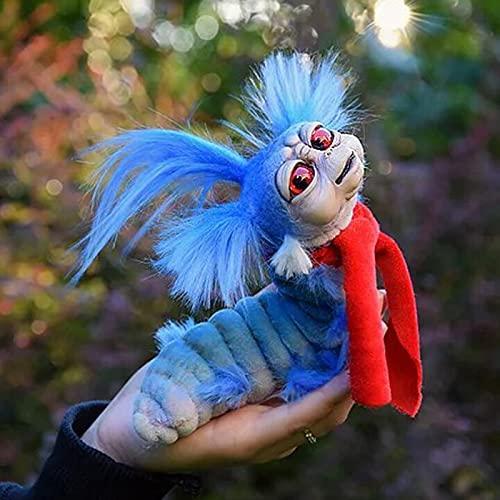 RealKing Worm from Labyrinth - Worm from Labyrinth Plush Doll,Funny Labyrinth Firey Plush Toy,Handmade Worm from Labyrinth Stuffed Toy Funny Present,Handmade Worm Stuffed Toy Funny Present Plush Doll