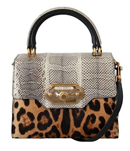 Dolce & Gabbana Brown Leopard Snakeskin Leopard Crossbody WELCOME Bag