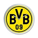 Borussia Dortmund Wanduhr, Plastik, Schwarz/Gelb, 25 x 25 x