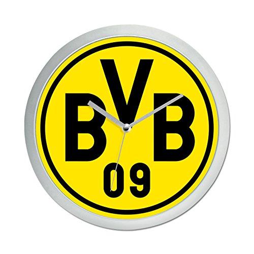 Borussia Dortmund Wanduhr, Plastik, Schwarz/Gelb, 25 x 25 x 5 cm