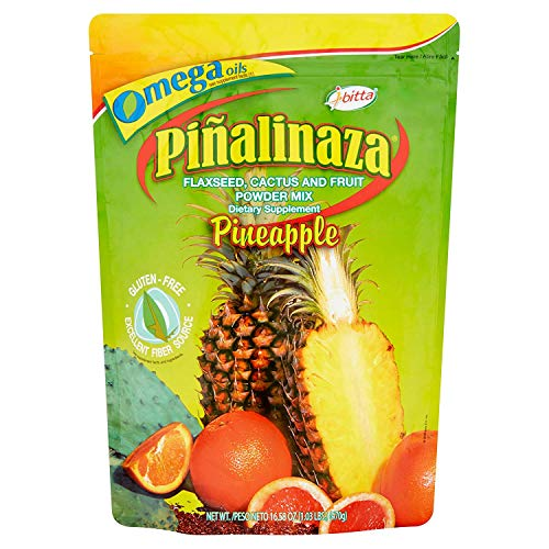 Ibitta Pinalinaza Flaxseed, Cactus and Fruit Powder Natural Colon Cleanse Detox, Energy Boost, Weight Loss Formula for Constipation Relief, Reduces Bloating, Improves Digestion 16.5 ounces