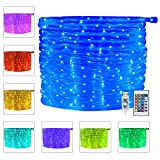 Ollny 100 LED Rope Lights 33ft 16 Colors Changing Indoor Lights USB Powered Multi Color...