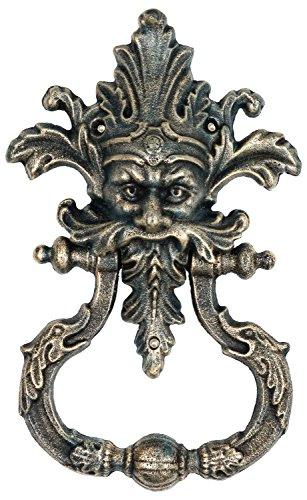 Türklopfer Teufel Faun Figur Skulptur Eisen im Antik-Stil - 33cm (a)