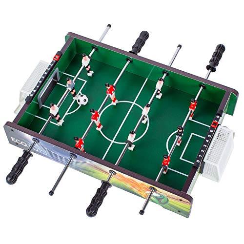 GDToys  Mini-Fußballtisch Tischfussball , Mini Football, inkl. 2 Bälle, Kicker Kickertisch Tischkicker, MDF, Maße: 53 x 51,5 cm.