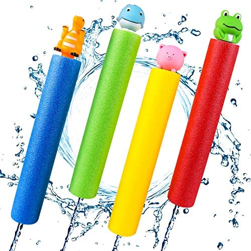 Bukm Water Guns 4 Pack Super Water Soakers Blaster Squirt Guns Pool Noodles Toy with Animal product image