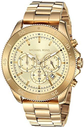 Michael Kors Herenhorloge analoog kwarts horloge met roestvrij stalen armband MK8663