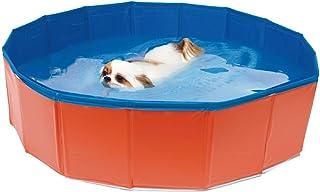 CROCI PISCINA Pieghevole per cani, Vasca da bagno per cani in PVC, Parco giochi per cani all'aperto, Dimensioni: 80X20cm