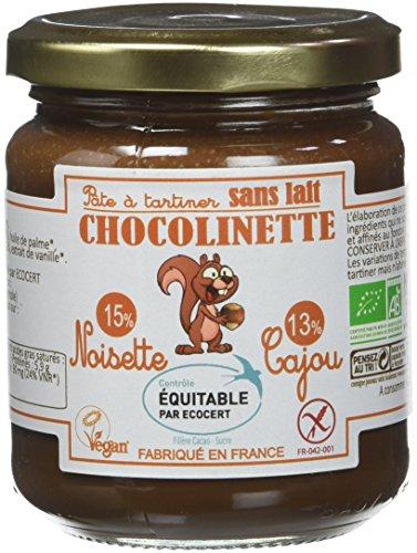 Noiseraie Productions - Bio - Pâte à Tartiner Chocolinette 220 g - Lot de 3