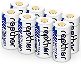 CR123A Lithium Batteries [750mAh 8Pack] for Arlo Wireless Security Cameras (VMC3030/VMK3200/VMS3230/3330/3430/3530) Flashlights Polaroid Cameras Microphones [Can be Recharged]