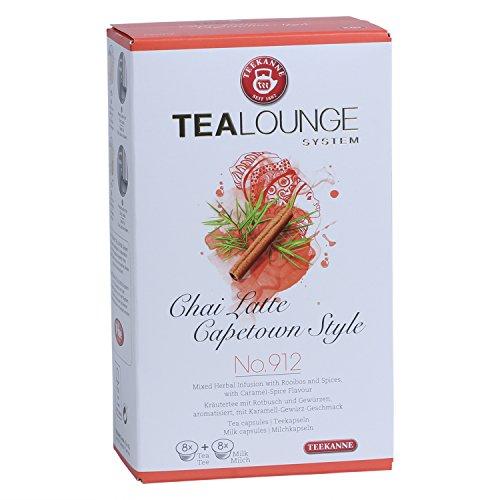Teekanne Tealounge Kapseln - Chai Latte Capetown Style No. 912 Kräutertee (16 Kapseln) 3er Pack
