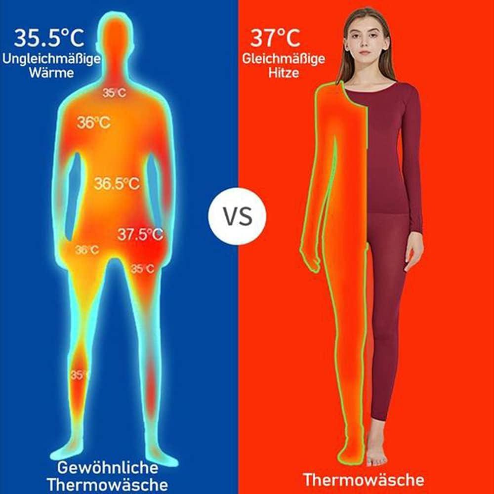 ergouzi Unisex 37 ° Thermal Underwear Set, Winter Warm, Shirt and Pants, Super Soft Thermal Leggings, Skiing, Extreme Cold (Men-Navy)