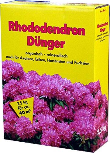 Rhododendrondünger 4x 2,5 kg 10kg Hortensien Azaleen Rhododendron Dünger