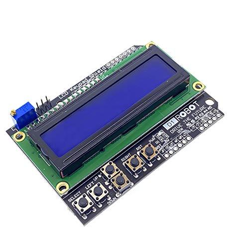 Czyu. LCD-Tastatur-Shield LCD1602 LCD 1602 Modul-Display-Erweiterungsvorstand für Arduino Atgega328 ATMEGA2560 Raspberry PI UNO Blue Screen