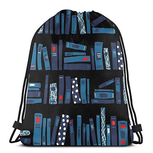 Sanme Mochila con cordón Librería Libros Mochila con cordón Impermeable Mochila Deportiva para Adultos Mochila Deportiva Bolsa de Almacenamiento para Mochila Escolar para niños