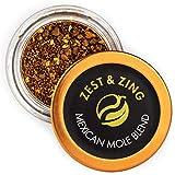 Zest & Zing Mezcla De Mole Mexicano (Gruesa), Tarro De Especias De 30 G: Mezclas Premium De Zest & Zing. Tarros De Especias Más Frescos, Convenientes Y Apilables. 126 g