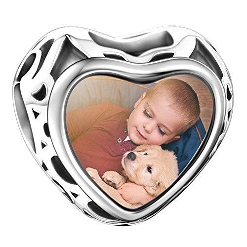 Soufeel Herz Offen 925er Sterling Silber Erinnerungscharm personaliziert Charms Anhänger