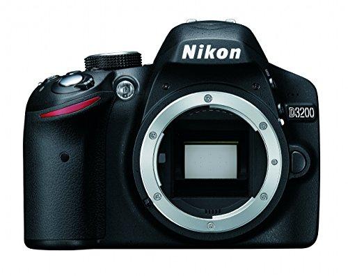 Nikon D3200 SLR-Digitalkamera (24 Megapixel, 7,4 cm (2,9 Zoll) Display, Live View, Full-HD) nur Gehäuse schwarz (Generalüberholt)