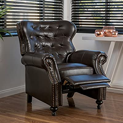 Christopher Knight Home Walder Reconstituted Bycast Leather Recliner, Brown
