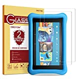 [2 Pack] OMOTON Tempered Glass Screen Protector for Fire HD 8 / Fire HD 8 Kids Edition Screen Protector (2018/2017 Release)