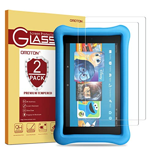 [2 Pack] OMOTON Tempered Glass Screen Protector for Fire HD 8 / Fire...