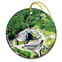 ウンガースハイムフランスパルクデュプチプリンスクリスマスオーナメントセラミックシート旅行お土産ギフト