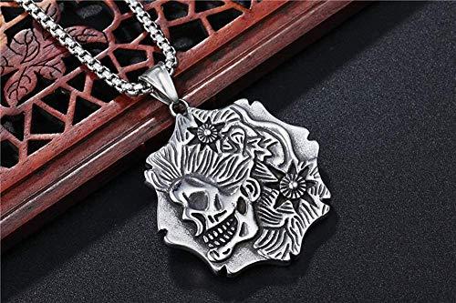 NC122 Collar Colgante Reggae cráneo Avatar Retro Punk Street Titanio Acero Fundido Inoxidable Hombres Mujeres Regalo joyería