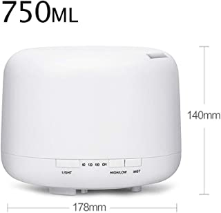 YYHSND Air Humidifier Home Mute Bedroom Lamp Night Office Aroma Humidifier Small Mini Desktop Aromatherapy Machine, White humidifier (Size : 750ml)