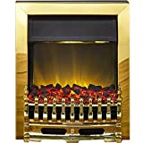 Adam Blenheim Electric fire in Brass