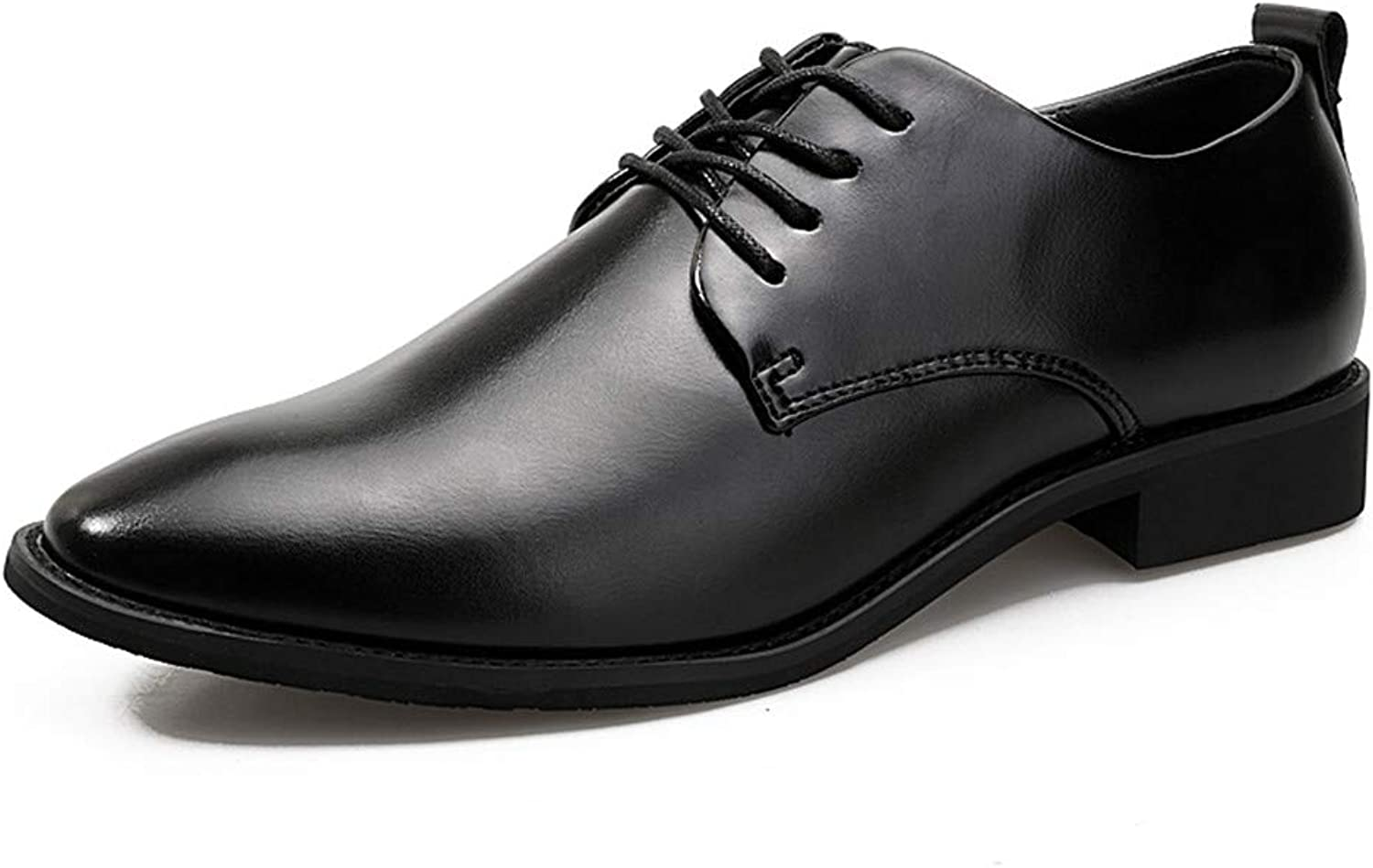Z.L.F shoes Men's Business Oxford Casual Soft Leather Pointed Lace Classic Fashion shoes Leather shoes