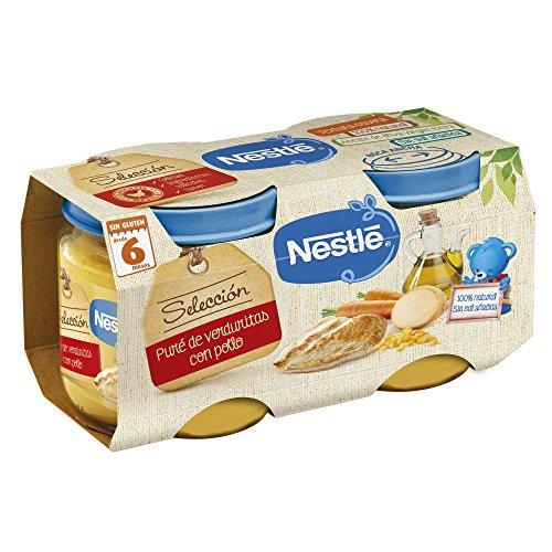 Nestlé Selección Tarrito de puré de verduras y carne, variedad puré de...