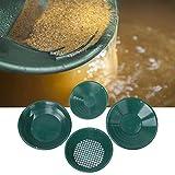 4 Piezas Gold Pan Kit,Batea Buscar Oro de Bandeja de Lavado de Oro Juego de Utensilios para Búsqueda de Oro Herramienta de Lavadora de Oro Tradicional en Minería de Oro aluvial y Exploración de Oro
