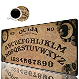 "Desk Pad Mat Gaming Mouse Pads with Coasters Set, Stitched Edges Design Mouse Pad XXL Large Mouse Pad for Laptop Computers Retro Ouija Board Desk Writing Mat for Office & Home 31.5""x 11.8"""