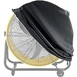 "ELONGRIVER Industrial Fan Cover,Waterproof&Dust-proof Cover for 24"" High-Velocity Drum Fan, Floor Fan Cover In Heavy Duty Material for Outdoor&Indoor"
