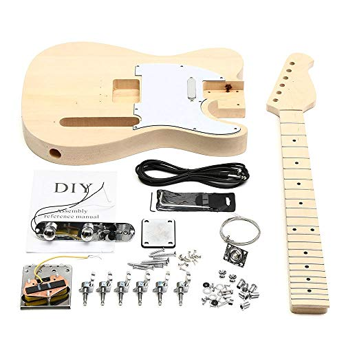 Akustisch Palisander Griffbrett Kit Set Durable DIY Unfinished E-Gitarre Mahagoni Korpus