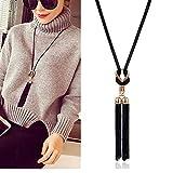 PHOOW 2021 Collar Colgante Femenino Tassel Largo de suéter de Invierno Collar Collar Collar