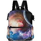 Oarencol Universe Space Planets Mochila Galaxy Star Nebula School Book Bag Viaje Senderismo Camping Portátil Daypack