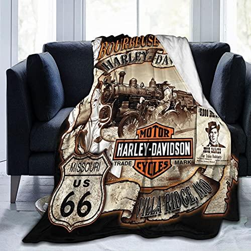 Manta infantil Harley Davidson de 127 x 152 cm, sofá o cama en todas las estaciones