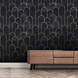 Modern Black Purple Stick and Peel Removable Vinyl Wallpaper for Bathroom Bedroom Room Decor Aesthetic Self Adhesive Wallpaper Peel and Stick Vintage Papel decorativo de pared Wallpaper by OCEANO