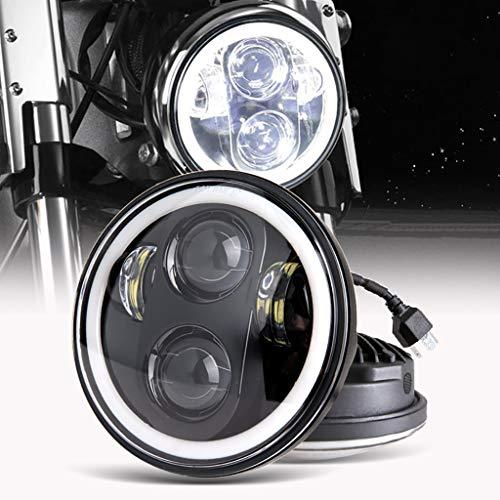 5.75 Zoll LED Motorrad Scheinwerfer Frontscheinwerfer Angel Eye weißer für Harley-Davidson-Wasserdichter Jeep