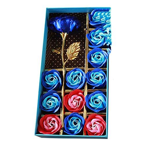 SOMESUN 13PC Seife Rose Blume mit Geschenkbox für Frauen zu Geburtstag, Hochzeit, Valentinstag, Hochzeitstag, Weihnachten,Valentinstag Geschenk