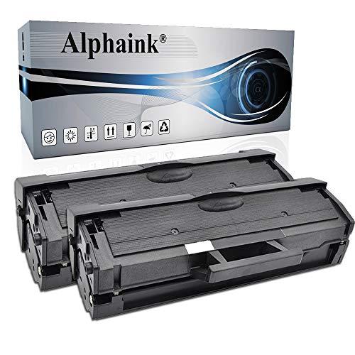 2 Toner Alphaink Compatibili con Samsung MLT-D101 versione da 1500 copie per stampanti Samsung ML-2160 2161 2162 2164 2165 2168 3400 SCX-3400 3401 3405 SF-760 765 (2 Toner)