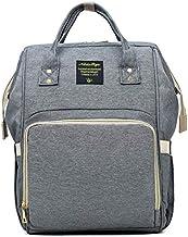 Mochila para mamá Frabe Family, bolso cambiador, bolso cambiador, mochila para bebé, color gris claro