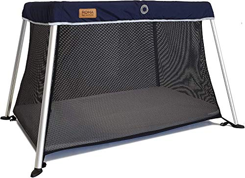 Venture Roma Travel Cot Includes Foam Mattress and Carry Bag 100 x 60cm...